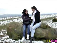 Euro schoolgirl licks
