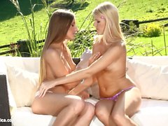 Lesbian sex on Sapphic Erotica with Morgan Nela