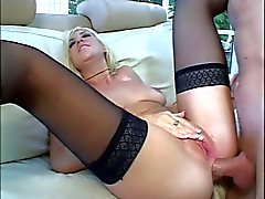 Blonde hottie goes anal for a big cock