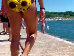Candid Beach Bikini Butt Ass West Michigan Booty 2 Hotties