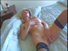 Perfect Blonde MILF Interracial