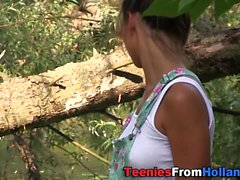 Teen jizz mouthed on raft
