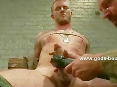 Submissive gay man gets tortured and teased by a man that forces