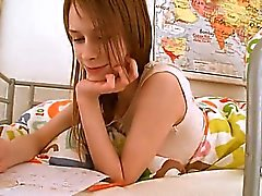 teenager schoolgirl doing pussy homework
