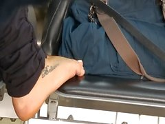 Candid tatoo feet and soles airport