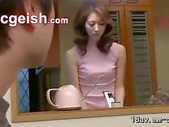 Masturbates in the kitchen