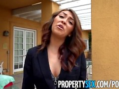 PropertySex - Bad real estate agent fucks client outdoors