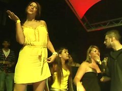 Awesome girls dance in the club