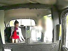 Horny stewardess nailed in the backseat by pervert stranger