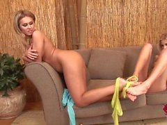 mia and zuzana get wet