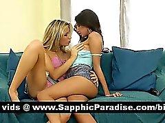 Bruna Angelico e il bionde lesbiche si fanno baciando e leccare