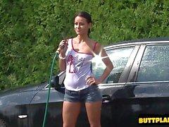 Horny girlfriend homemade squirt