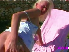 Geile Blonde Fickspalte auf Mallorca