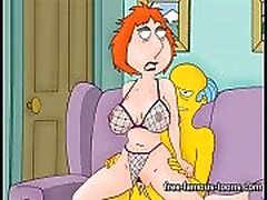 Grifi e dei dei Simpson parodiare Anime