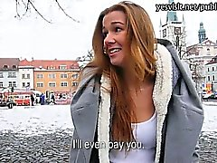 Eurobabe Dominika pussy banged with stranger for money