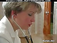 Russian Nurse Serving Sick Guy