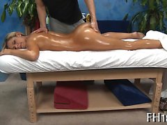 Hot 18 beauty receives fucked hard by her massage therapist