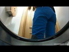 Beautiful voyeur peeing females 5