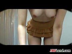Naughty Japanese Girl Teasing Her Body