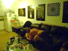 Hidden cam catches a fat guy with a big gut fucking a chubby teen