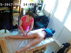 Russian Hidden Spy Cam: Anti-Cellulite Massage