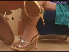 under-feet - slave lick mistress feet & heel