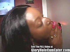 Gloryhole Girl Paris Is An Ebony Cum Hungry Freak