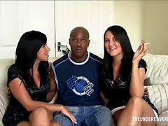 Two white wives invite a black guy for some fun
