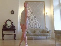Ballerina gets naked on cam.