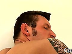 Blowjob for charming gay stud