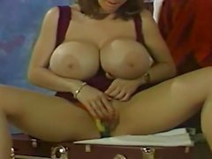 Letha Weapons masturbating with her fingers and a dildo