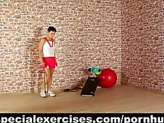 Submissive sport training for sexy petite teen girl