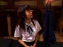 Bodacious Asian teen has a kinky guy pleasing her tight hai