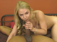 Deepthroating Big Black Cock and Swallowing Cum Accidentally