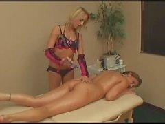 Sexy Blonde Gives Massage