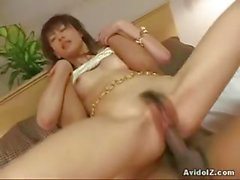 Cute Japanese petite babe blowjob and hardcore sex!