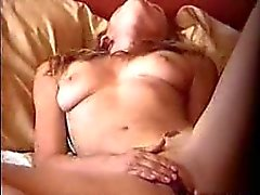 Caught wife masturbating on the bed