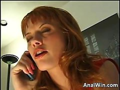 Red Haired Cheerleader Fucked In The Ass
