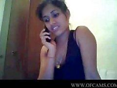 Desi girl on cam with phone cumonpussy