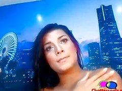Diva Dark Haired Babe Teasing - Chattercams.n