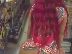Slow Motion Booty Shake in Store