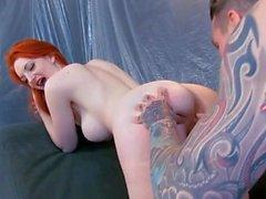 Sexy Tattooed Redhead Great Fucked (HHU)