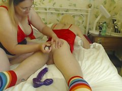 BBW mistress playing with her sissy