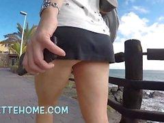 sous ma jupe au bord de mer cam direkt gießen Voyeure Frankreich