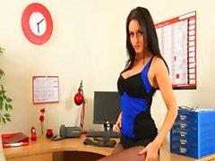 Incredibly enchanting brunette secretary