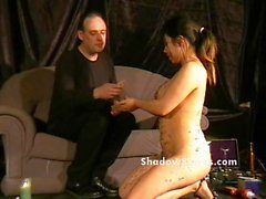 Bdsm reality show of asian slave Tigerr Benson drawing pain