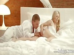 Blonde angel penetrated in bedroom room