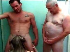 Big boobs model anal gangbang