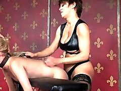Rough femdom strapons tiedup submissive