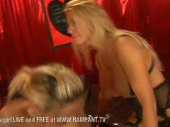Sami J and Jess West girl on girl stocking clad action
